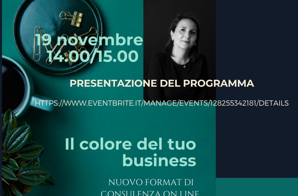"""Presentazione on line """"Il colore del tuo business"""""""